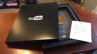 Unboxing My Gold Play Button!  One Million Subscribers Strong!