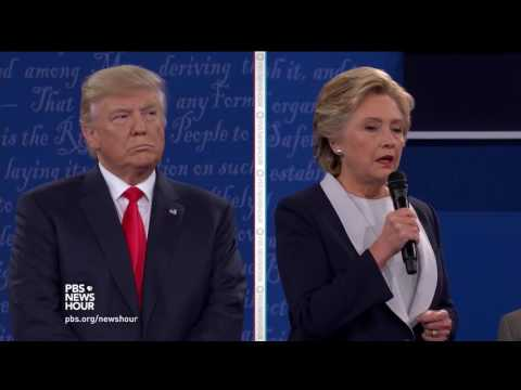 Watch the second presidential debate between Donald Trump and Hillary Clinton