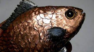 Удивительная самоделка!  Золотая рыбка - карась талисман удачи