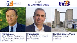 7/8 Le Journal. Edition du lundi 13 janvier 2020