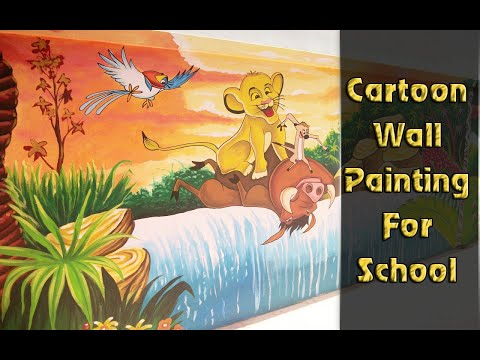 Cartoon Wall Paintings For School Hyderabad Wall Art