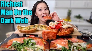 CRAZY SALMON PIZZA + CHEESE QUICHE MUKBANG | Eating Show