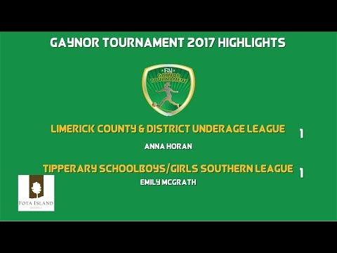 GAYNOR 17 - HIGHLIGHTS: Limerick County & District 1-1 South Tipperary