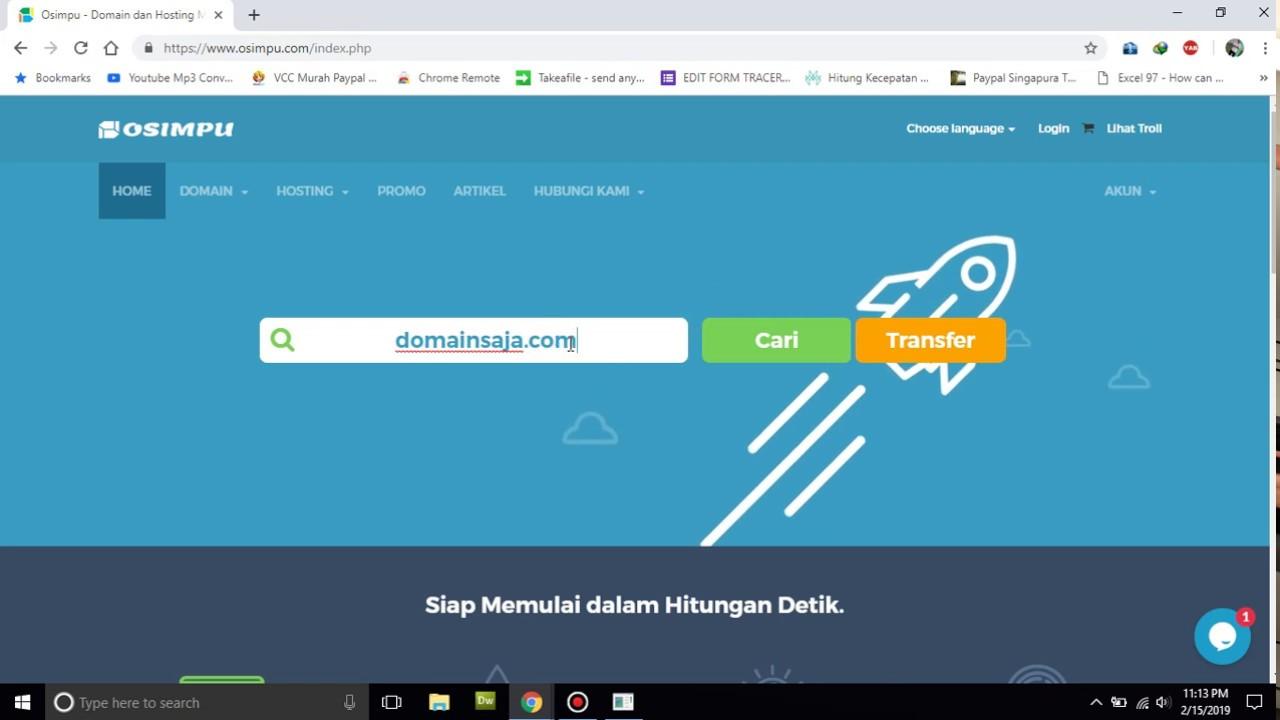 Cara Beli Domain Murah di Osimpu - YouTube