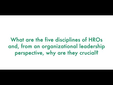 Download The Five Disciplines of HROs