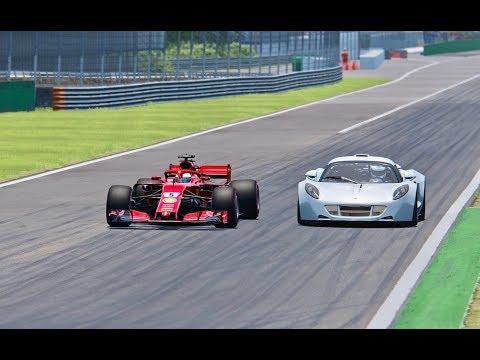 Ferrari F1 2018 vs Hennessey Venom GT – Monza