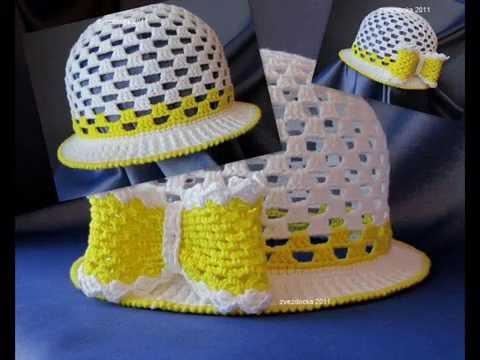 коллекция шляпок для девочек связанных крючком Youtube