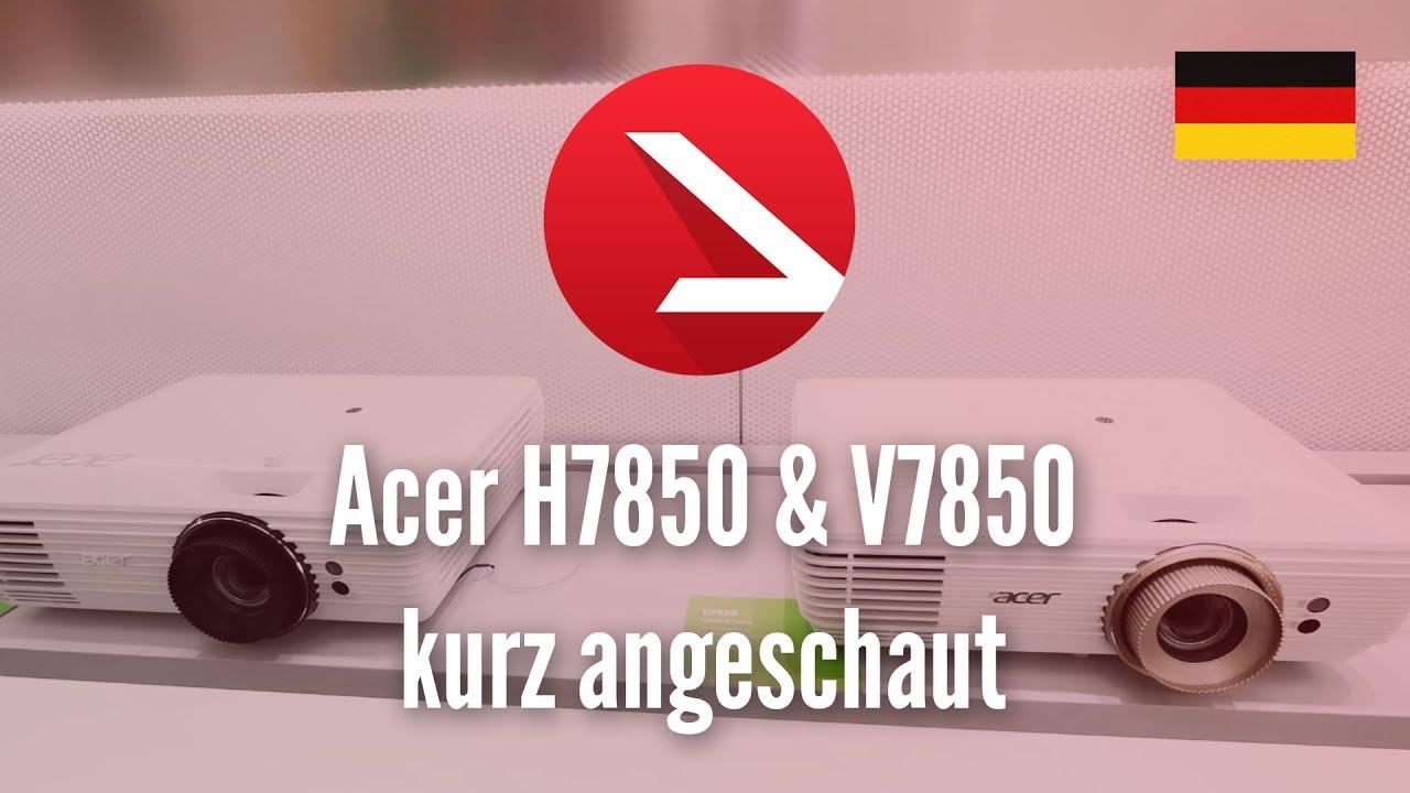 4K Beamer für nur 2499 Euro! | Acer H7850 & V7850 kurz angeschaut
