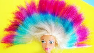 DIY Barbie Hairstyle, Shoes, Bags and More Easy Ideas ~How To Make 8 Different Doll Hacks and Crafts