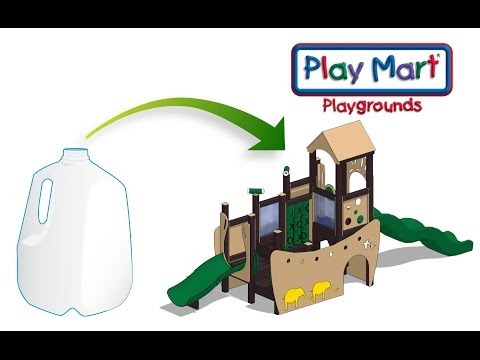 Play Mart Recycles Milk Jugs To Make Playgrounds!