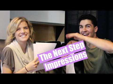 Trevor and Brittany from The Next Step Play Impressions
