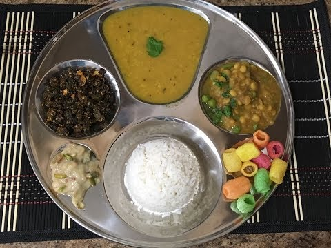 Vrat thali (no onion, no garlic, no  ginger & no tomato recipe for santhoshi ma pooja)
