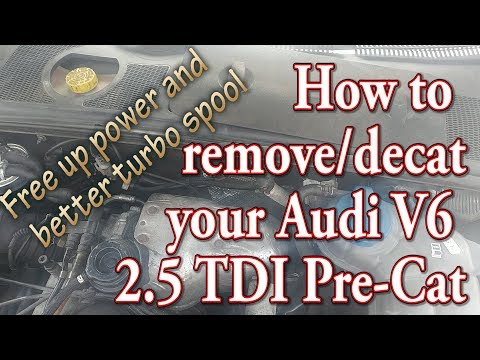How to remove/decat your Audi A4/A6 V6 2.5 TDI