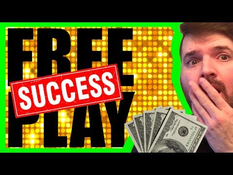 Turning FREE PLAY Into A JACKPOT!💥🙀💥 Slot Machine Winning W/ SDGuy - 동영상
