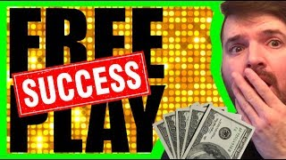 Turning FREE PLAY Into A JACKPOT!💥🙀💥 Slot Machine Winning W/ SDGuy
