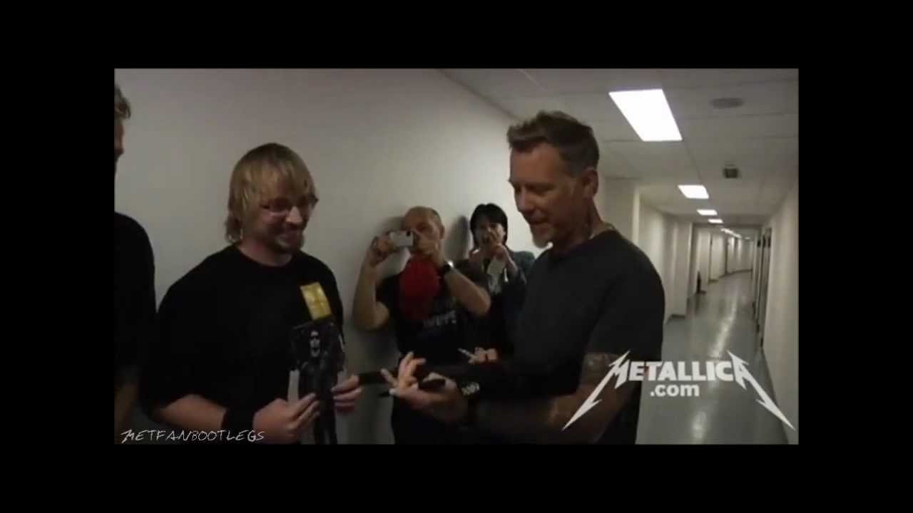 Metallica Meet And Greet Prague May 7 2012 Hd Youtube