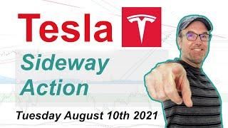 Tesla (TSLA) Sideway action - Technical Stock Analysis August 10th 2021