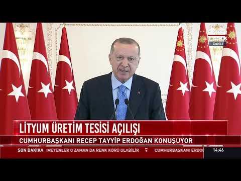 Lityum Üretim Tesisi Açılışı (Cumhurbaşkanı Recep Tayyip Erdoğan konuşuyor)