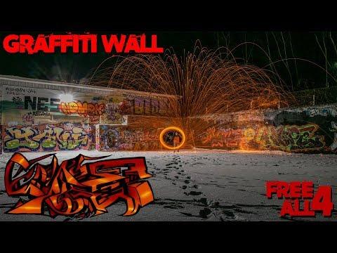 Spinning Steel Wool At New Ulm Minnesota Graffiti Wall