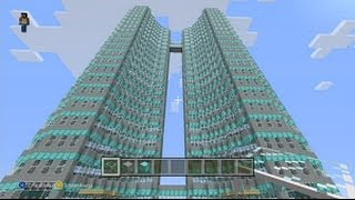 Minecraft, How To Build A Hotel Skyscraper (Minecraft Tutorial)