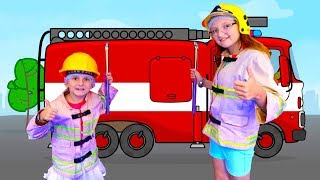 Emergency! Making Money and Kinder Chocolate - Having Fun at Kidzania with Super Elsa