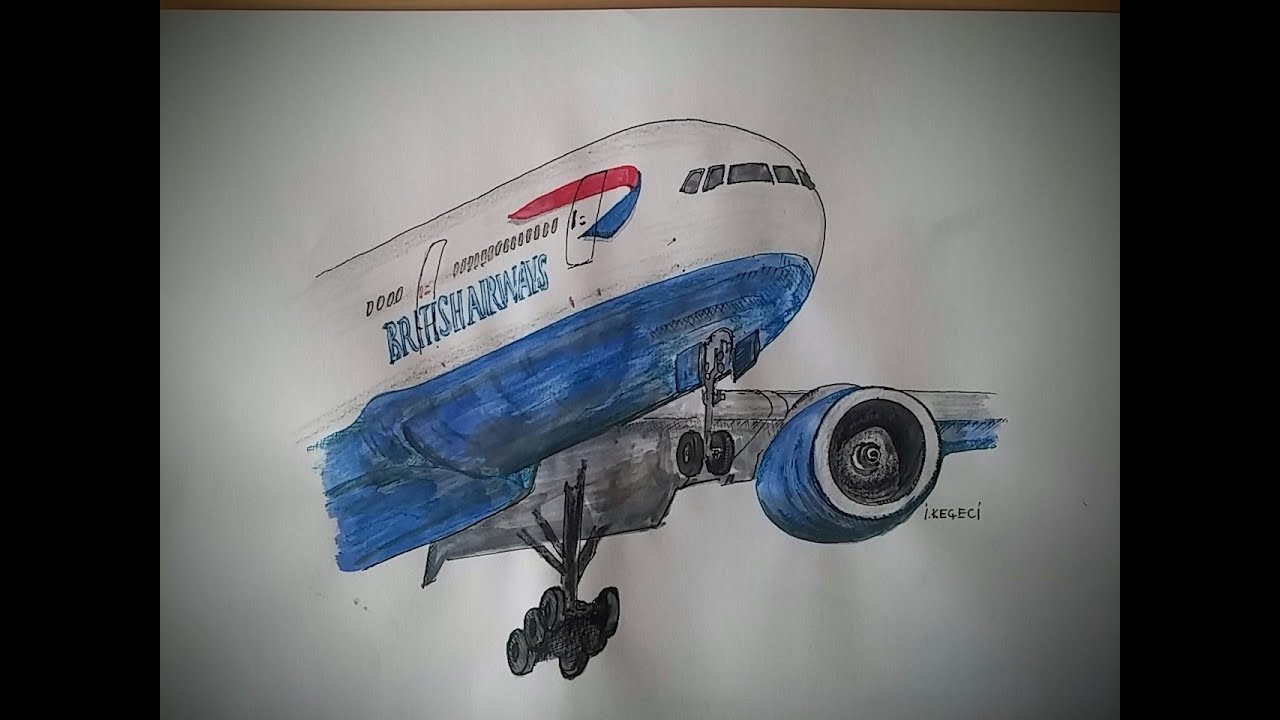 British Airways Boeing777-Drawing Video