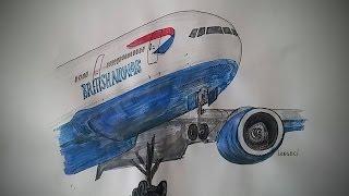 British Airways Boeing777-Drawing Video