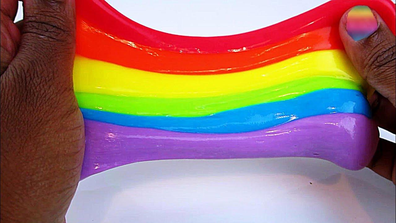 Rainbow Slime Diy Fun & Easy How To Make Slime! No Liquid Starch