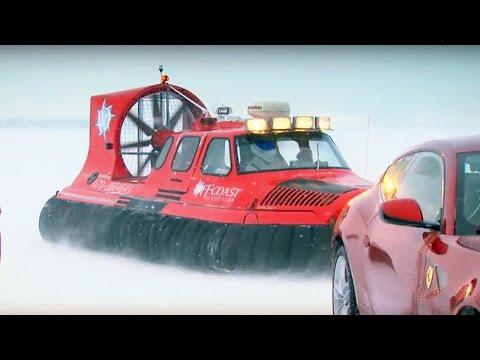 Ferrari FF Vs. Bentley Continental V8 on Ice! - Top Gear - The Stig - BBC