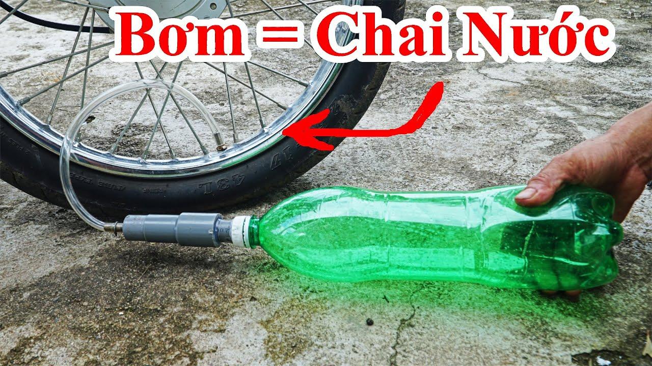 Cách Bơm Bánh Xe Máy Bằng Chai Nhựa Cực Hay / Hướng Dẫn Chế Bơm Xe Bằng Chai Nhựa . inflatable wheel