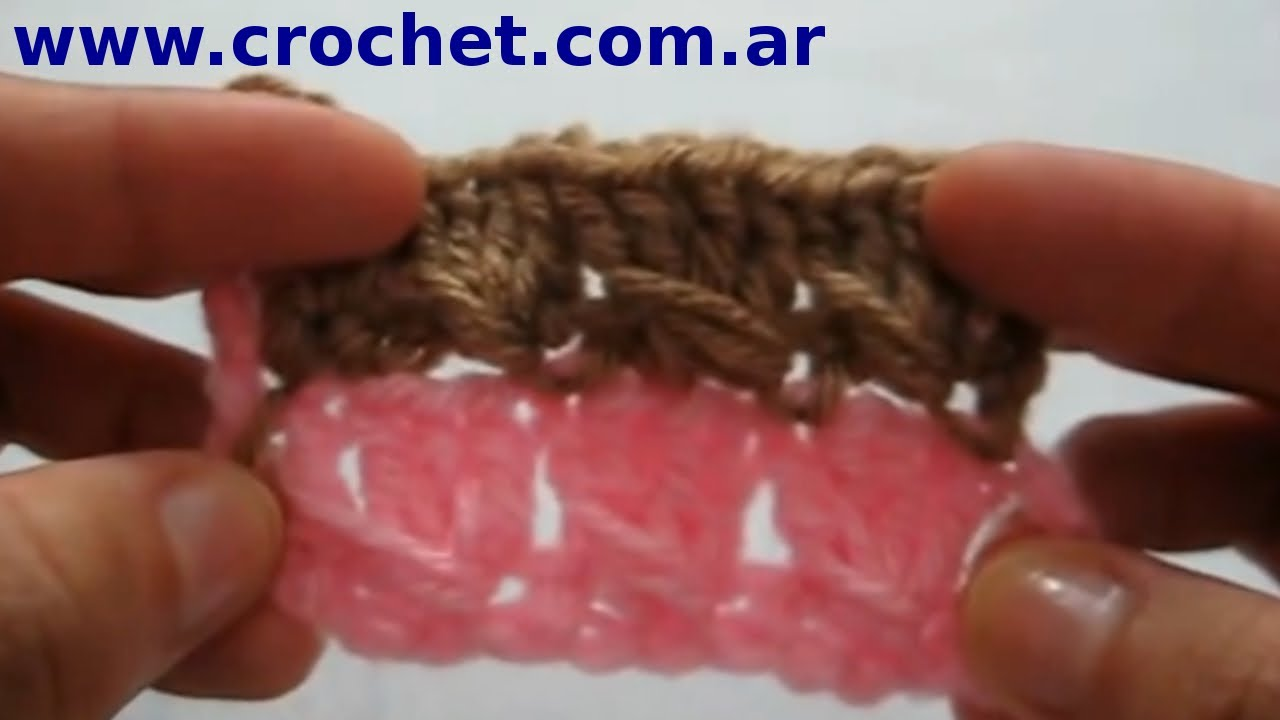 PUNTO fantasía nº 1 en tejido Crochet o ganchillo tutorial paso a ...