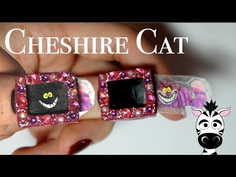4D Disappearing Cheshire Cat Acrylic Nail Art Tutorial thumbnail