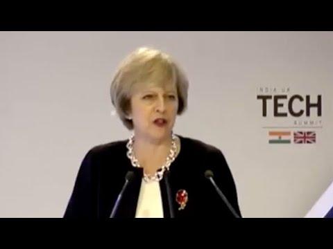 British Prime Minister Theresa Address At India UK Tech Summit In New Delhi | PM Modi | Mango News