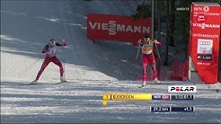 Oslo 2015: 30 km finish - Bjørgen, Johaug, Jacobsen