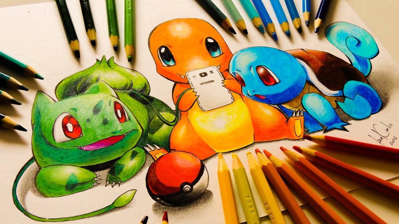 desenho gamer desenhando pokémons do pokémon go youtube