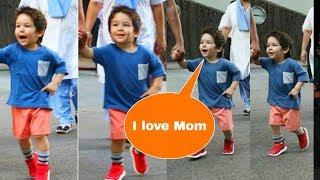 Taimur Ali Khan singing and dancing CUTE SONG for Mom Kareena Kapoor Khan