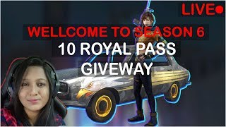 PUBG MOBILE - 10 ROYAL PASS GIVEAWAY - STAY ACTIVE TO WIN RP