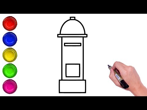 How To Draw A Post Box For Kids Drawing Letter Box Coloring Post Box Step By Step Youtube
