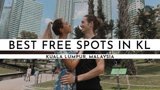 THE BEST FREE SPOTS IN KUALA LUMPUR · BUDGET SIGHTSEEING DAY | TRAVEL VLOG #47