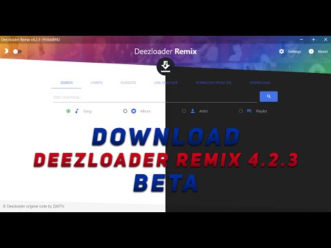 Install And Log In Deezloader Remix Version 4.2.1 Available For All Systems Free Download