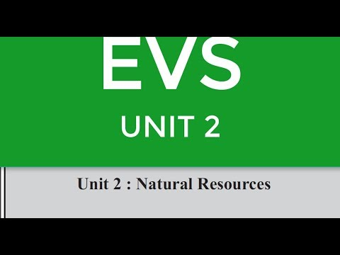 EVS UNIT 2 NATURAL RESOURCES