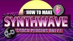 How To Make Synhtwave Music Using Stock Plugins Only | FL Studio Tutorial + FLP