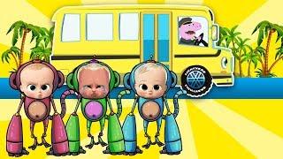 Wheels on the Bus | +More Nursery Rhymes & Kids Songs