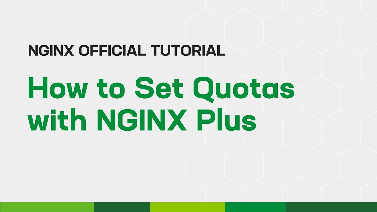 How to Set Quotas with NGINX Plus