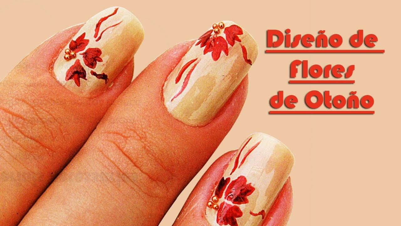 Diseño de Uñas con Flores de Otoño, Fotos de Uñas Decoradas Paso a ...