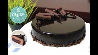 Mirror Glaze Brownie Mousse Cake | Eggless (non vegetarian)