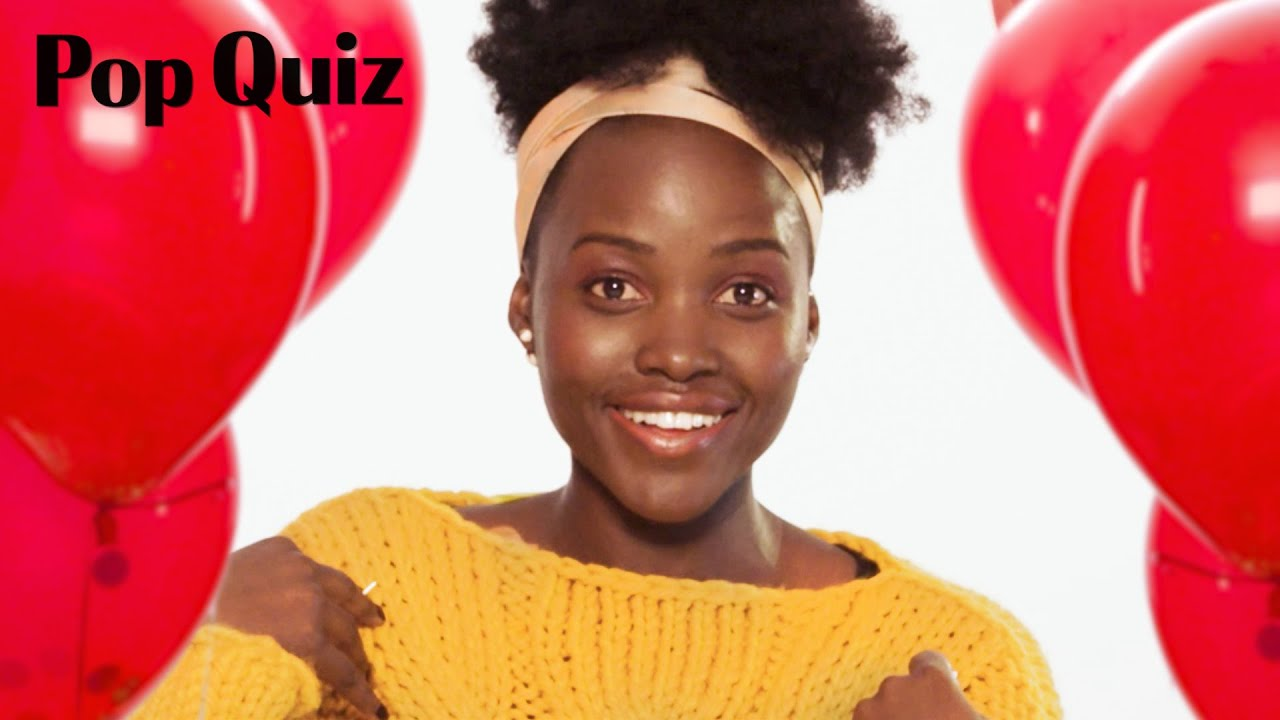 Lupita Nyong'o Plays a Game of Pop Quiz | Marie Claire