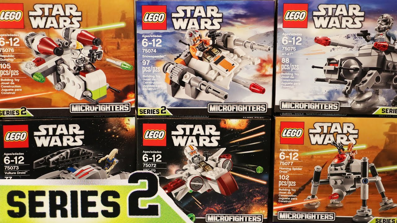 Lego Star Wars Mircofighters Series 2 All 6 Sets Timelapse Reviewed