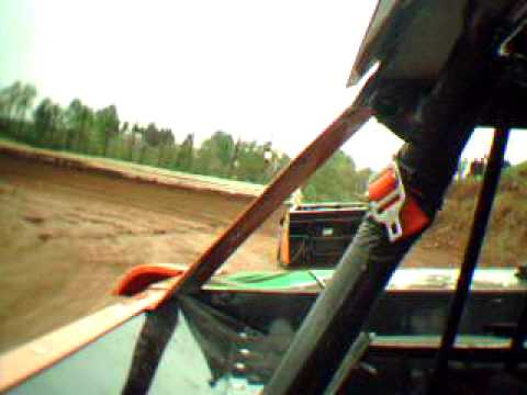 Dirt Late Model in car video i-77 speedway