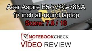 acer Aspire E5-774G Notebook Review